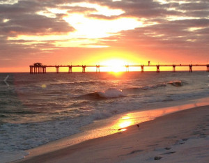Sunset from Destin West Beach & Bay Resort