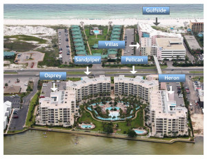 Aerial Map Destin West Beach & Bay Resort