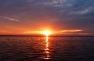 Destin West Beach & Bay Resort sunset