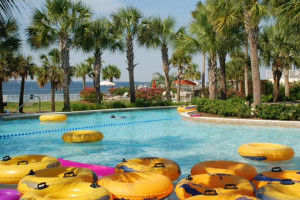 Destin West Beach & Bay Resort lazy pool floats