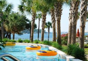Destin West Beach & Bay Resort pool floats