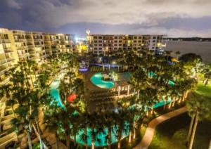 Destin West Beach & Bay Resort from above