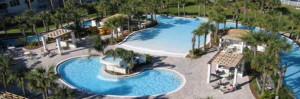 Destin West Beach & Bay Resort pools